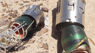Photographs of British-made IBL755s shown to ITV News by a Houthi fighter.