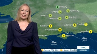 Monday's weather for the west