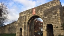 Section of York walls closed amid safety fears