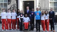 Prime Minister David Cameron with the School's Games ambassadors
