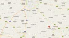 The crash happened near Lubenham, Leicestershire
