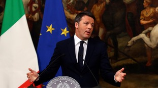 Matteo Renzi speaks following the referendum.