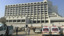 Fire broke out during the night at the four-star Regent Plaza in Karachi.