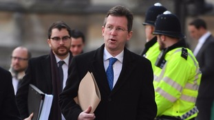 Attorney General Jeremy Wright, seen arriving at the Supreme Court, leads the Government side's legal team opposite crossbench peer Lord Pannick.