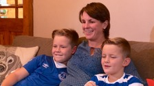 Emma Wood, and her two sons, has been raising money for a hospice in Bristol.