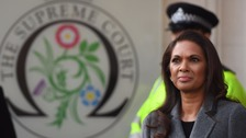 Gina Miller, who brought the case against the Government, arrived for the first day of the hearing.