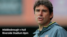 Middlesbrough take on Hull City at the Riverside Stadium on Monday