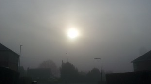 Fog this morning at Rotherham.