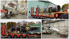 WWII aircrafts arrive at Royal Air Force Museum Cosford