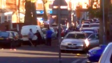Rival gangs take over Birmingham street in mass brawl