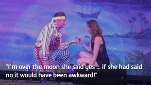 Oh yes I will - woman accepts panto star's on-stage proposal