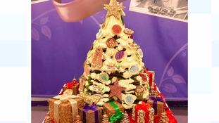 Choc-in' around the Christmas tree: Cadbury World unveils festive creation