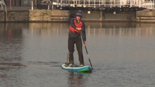 Paddle boarder set for exotic adventure