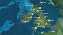 Weather: A rather cloudy day in most areas