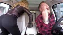 Madonna twerks in Carpool Karaoke with James Corden