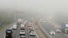 Travel disruption as fog hits the South's transport network