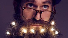 Are fairy light beards the new Christmas accessory?