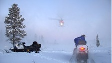 Police made the arrest following a manhunt in conditions of -30C