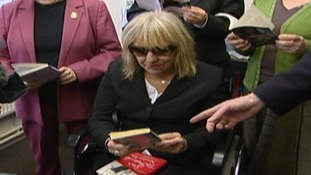 Sue Townsend is visiting her old school today ahead of her book release
