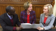 Anne-Marie Trevelyn discusses dangerous driving with MP Liz Truss and MP Sam Gyimah