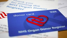 Organ donor card.