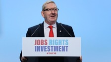 Len McCluskey speaks at the annual Trade Union Congress in Brighton in September.