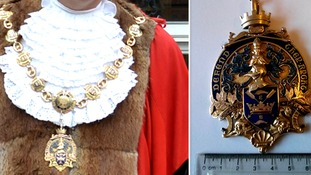 Ancient mayoral chains stolen in town hall raid