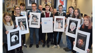 Students work with Darlington Council in a campaign aimed at highlighting mental health issues
