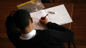 Student sitting an exam