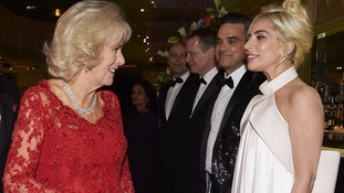 'My grandchildren call me Gaga': Camilla tells Lady Gaga at Royal Variety Performance
