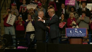 Trump brings Defence Secretary nominee James 'Mad Dog' Mattis on stage during 'thank you' rally