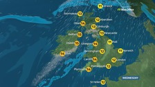 Weather: Cloudy in the south but rain and strong winds in north