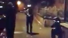 A video has circulated on social media apparently showing armed dissidents in north Belfast.