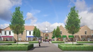 Artist's impression of designer outlet