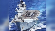 Former HMS Illustrious leaves Britain for final time