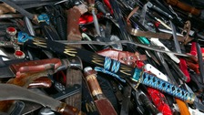 Hundreds of knives surrendered