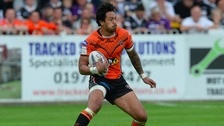 Denny Solomona in action for Castleford Tigers.
