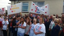 The future of Maryport Hospital has been the subject of local protests.