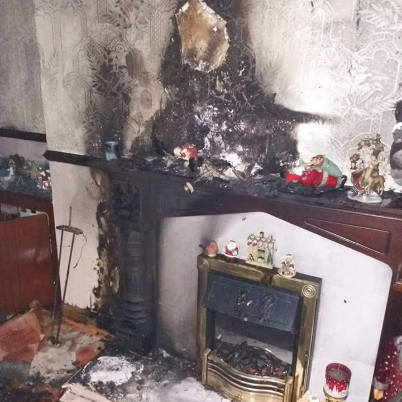 Candle And Christmas Decorations Started Belfast Fire