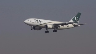 A Pakistan International Airlines plane.