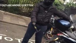 Audacious attempt to steal superbike stopped in its tracks by fearless bystanders