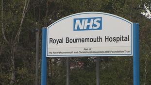 Royal Bournemouth Hospital sign