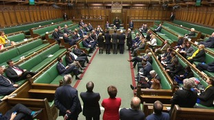 The outcome of the vote is announced in the House of Commons.