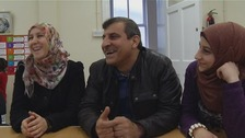 The Alzaid family from Damascus are one of several that are settling into live in Northern Ireland.