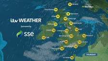Wet and windy, but mild as temperatures hit the teens