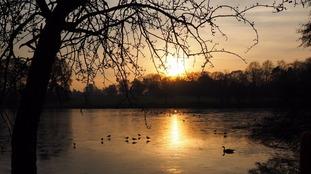 Swanshurst Park sunset