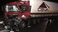 Long delays after lorries collide on M4