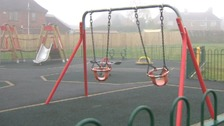 A play area in Selston where there have been reports of anti-social behaviour.