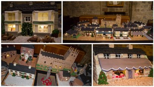 Entire village recreated in fruitcake, marzipan and icing