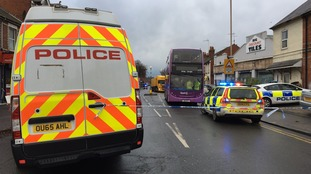 Multiple casualties after bus and car collide on Reading street